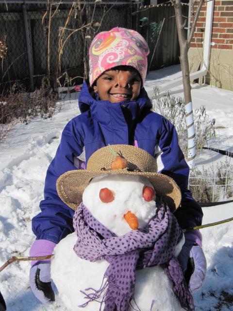 Yeabsra's First Snowman