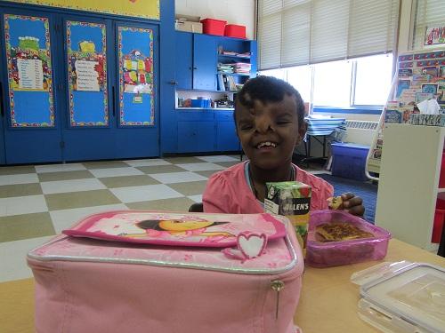 Yeabsra attends MPS Etobicoke School