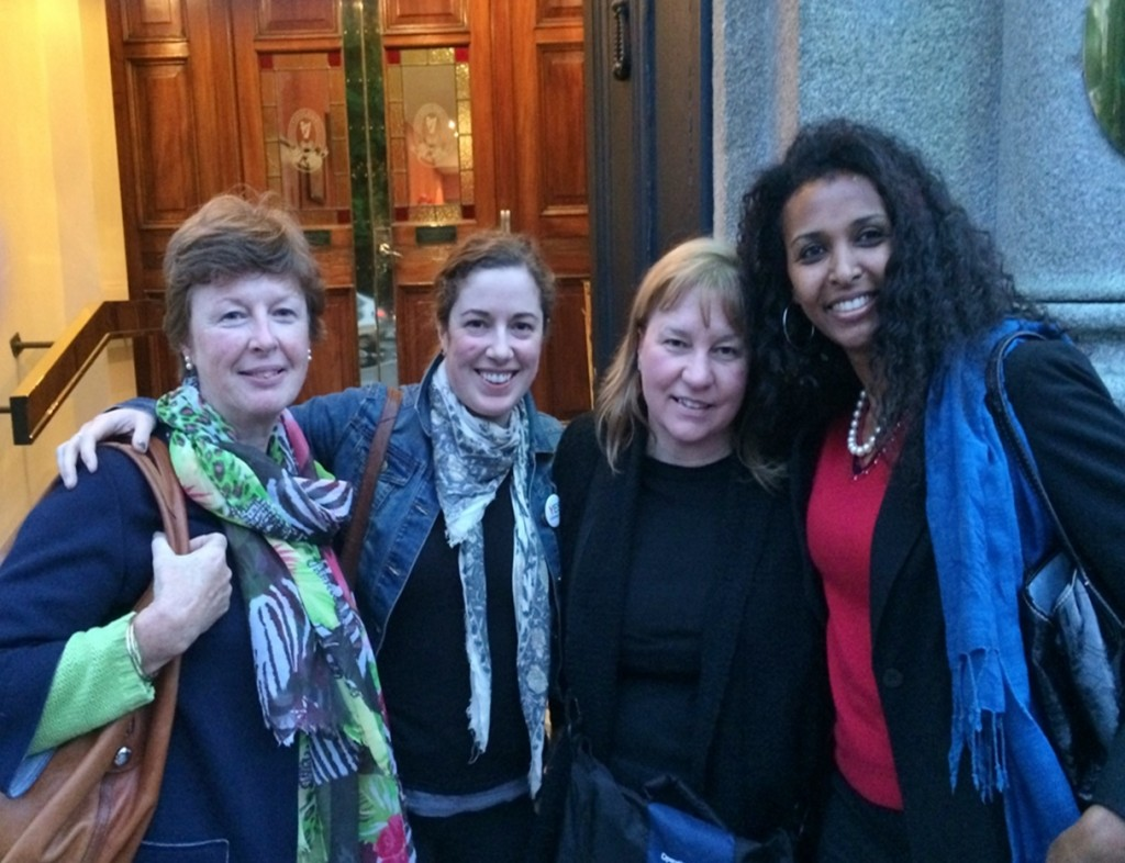 From left to right: Triona Sweeney, Mairead O'Callaghan, Teri Cosgrove and Berhane Abera