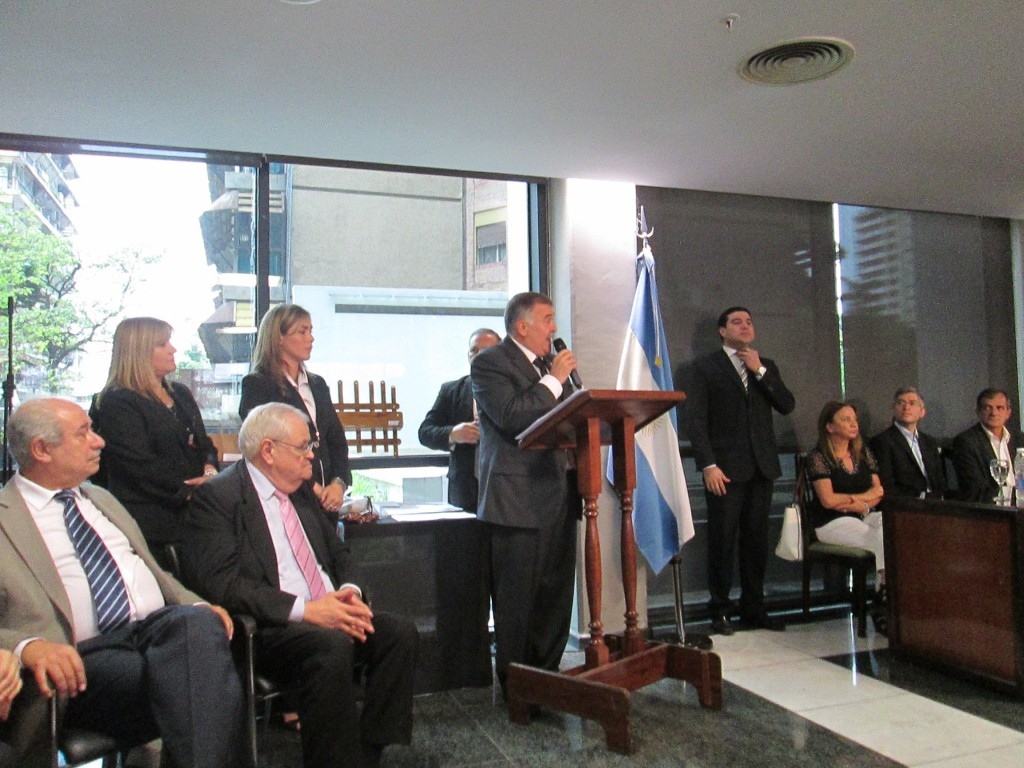 Public award ceremony in Argentina