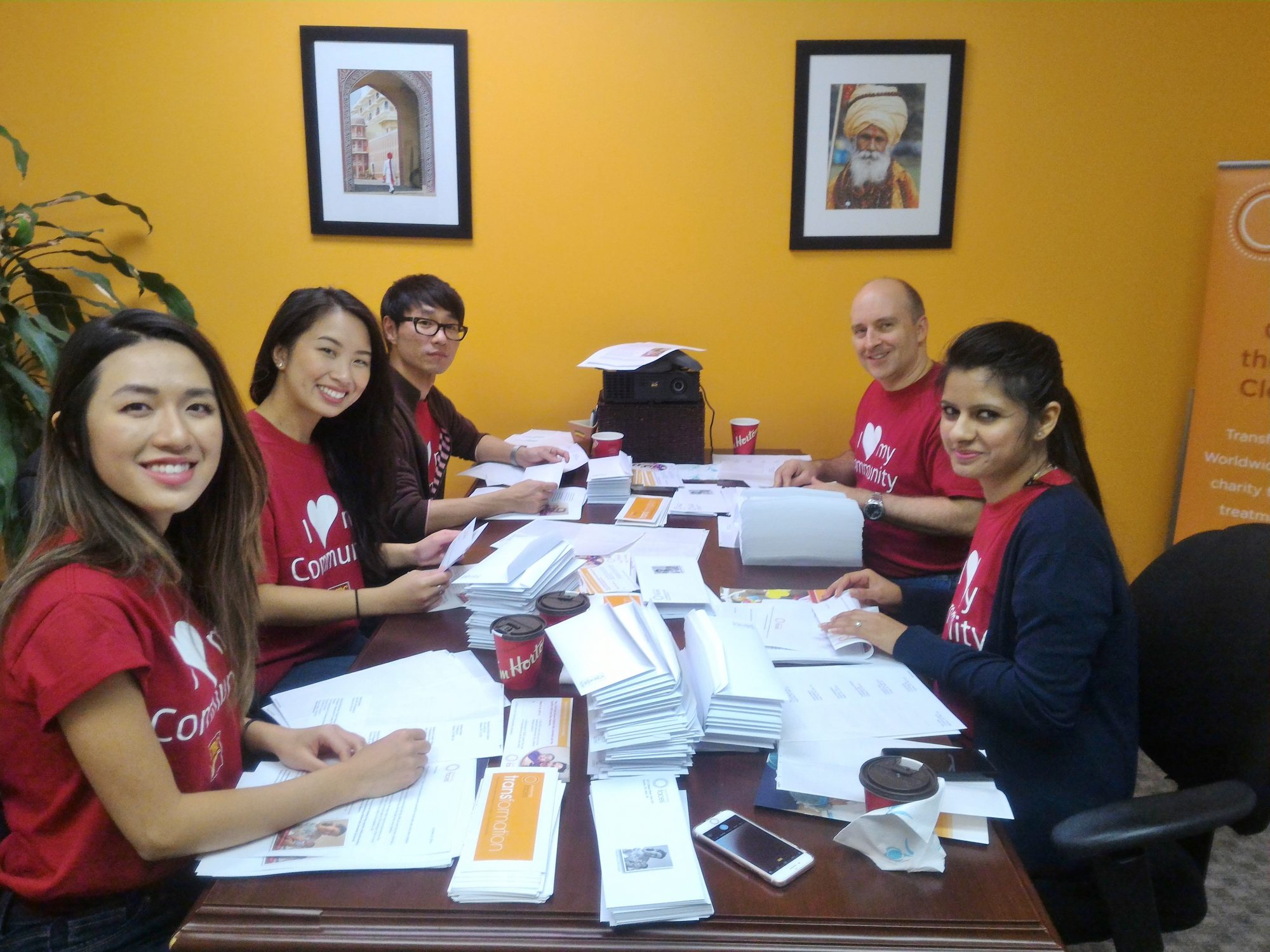 CIBC Volunteers with Transforming Faces